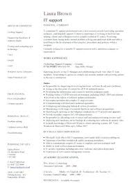 Help Desk Resume Sample Cover Letter It Help Desk Resume Samples ...