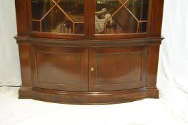 Chippendale China Cabinet Mahogany Breakfront China Cabinet Bookcase By Baker Furn Historic