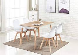 Image Diy Pn Homewares Lorenzo Dining Table And Chairs Set Retro And Modern Scandinavian Dining Set Amazon Uk Pn Homewares Lorenzo Dining Table And Chairs Set Retro And