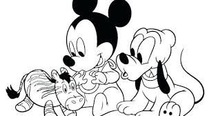Happy Birthday Minnie Mouse Coloring Pages Baby Mickey 1st Cake Page