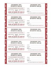 formato boletos rifa boletos de rifa plantillas office com recursos educativos