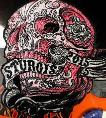 hot leather patch sturgis banner skull 2016