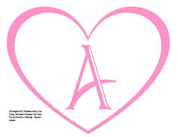 Letter For Banner Large Printable Heart Shaped Alphabet Letters A Z Heart Letters