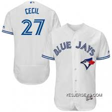Mens Majestic Toronto Blue Jays 27 Brett Cecil White