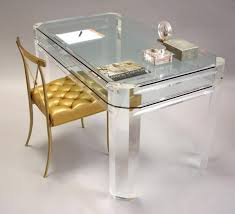 Lucite and Glass Desk