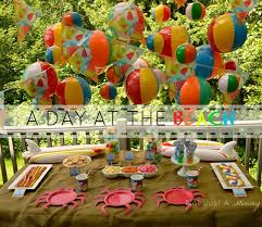 Beach Ball Decoration Ideas Real PartyFiesta Friday On A Monday A Day At The Beach Party 20