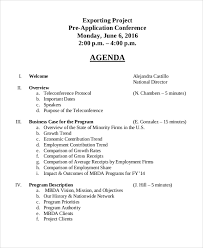 sample agenda sample agenda 10 examples in word pdf
