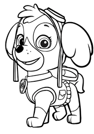 Skye Paw Patrol Coloring Pages Everest And Skye On Printable Paw