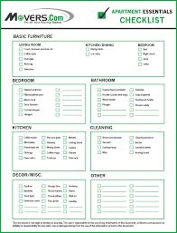 Apartment Necessities Checklist