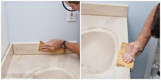 prep sink and countertop for painting by sanding i m flying south featured on