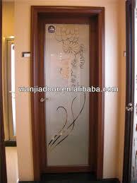 marvelous brown solid teak wood modern interior doors for inspiring