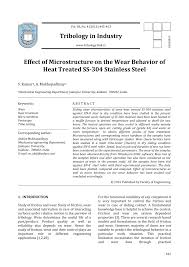 Pdf Effect Of Microstructure On The Wear Behavior Of Heat