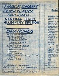 Prr Track Charts Details About Prr Pennsylvania Railroad Track Chart Allegheny Division Branches Free Shipping