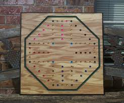 Wooden Aggravation Board Game Pattern 100 player Aggravation game board 100 x 100x100 sign d by craftsman 32