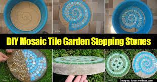 Make Cool Garden Stepping Stones A DIY Mosaic Tile Tutorial