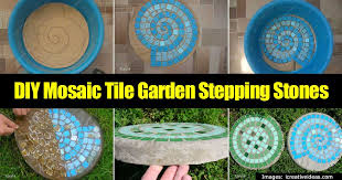 make cool garden stepping stones a diy mosaic tile tutorial