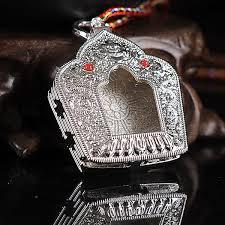 details about tibet buddhist alloy silvering dragon cross vajra ghau prayer box pendant