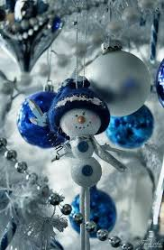 Image result for blue christmas decor