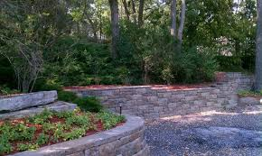 retaining wall adds space for plants
