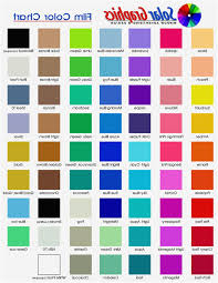 Color Chart With Names 63 Explicit Colours Name