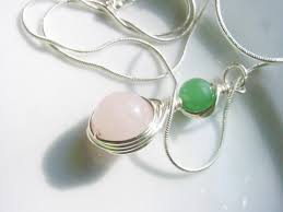 heart chakra pendant soothing green aventurine semi precious stones rose quartz wire wrapped chakra jewelry reiki jewellery gift idea cheryl s
