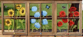 painting on glass windows best of how to make painted window panes from your old windows