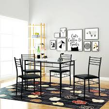 Dining Table Chair Sets Kitchen Glass With 4 Chairs Cheap Tables And