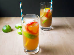 Cocktails With Lemon And Orange In Glasses Cocktail Party At A Party Cocktails In A Pitcher