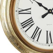 london clock company antique gold leaf