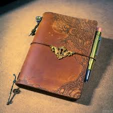 midori traveler s notebook star edition pyrography on leather notebook cover