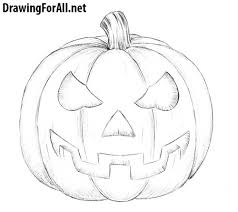 pumpkin drawing step by step. how to draw a halloween pumpkin drawing step by