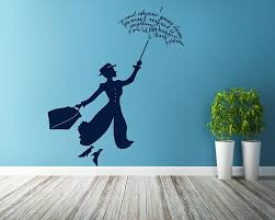 mary poppins silhouette mary poppins vinyl decals silhouette wall art sticker