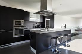 Black Kitchen Cabinets for Display