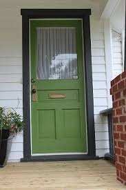 white front door blue house. Green Front Door Pops With Black Trim. Currently My Fav Color Of Green. White Blue House