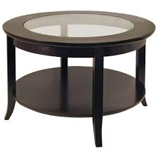 genoa transitional round coffee table