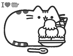 Thousands pictures for downloading and printing! Pusheen With Ice Cream Coloring Page Free Printable Coloring Pages For Kids