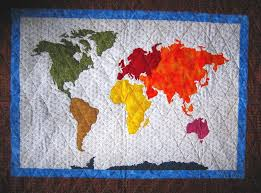 OurWorldPatchworkMapQuilt | Henry's quilt | Pinterest | Map quilt ... & OUR WORLD Patchwork Map Quilt Pattern Full Sized Templates and Clear  Instructions from Quilts by Elena Adamdwight.com