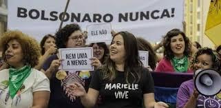 Image result for marielle vive contra bolsonaro
