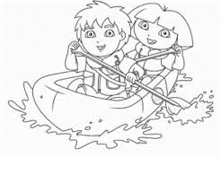 Small Picture Dora And Diego Coloring Pages Free Cartoon Coloring pages of