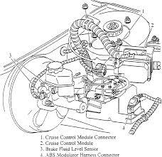Underhood wiring and cruise control module arrangement 2000 intrigue shown