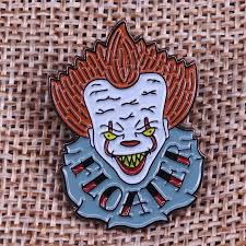 Costume Jewellery Pennywise Lapel Pin <b>We All Float</b> Down Here ...
