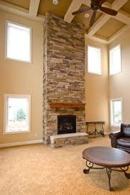 2014 Custom Home Design Debunking Myths About Two Story Living RoomsTwo Story Fireplace