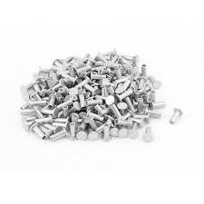 200 Pcs M4 x 10mm Aluminum Flat Head Semi-Tubular Rivets ...