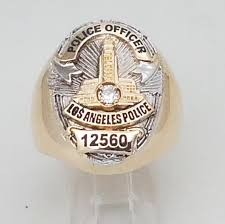 lapd los angeles police department ring w your shield badge top police fire