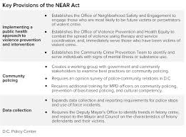 Implementing The Near Act To Reduce Violence In D C D C