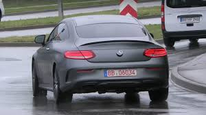 2018 Mercedes-AMG C43 Coupe Facelift Spied in Germany With Magno ...