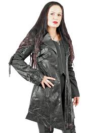 punk rave gothic industrial coat black