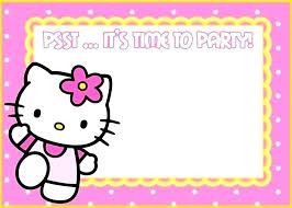 Hello Kitty Invitation Hello Kitty Template