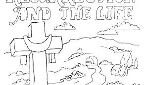 Free Printable Jesus Easter Coloring Pages Within Resurrection Page