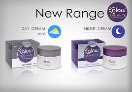 glow skin white day cream or night cream on